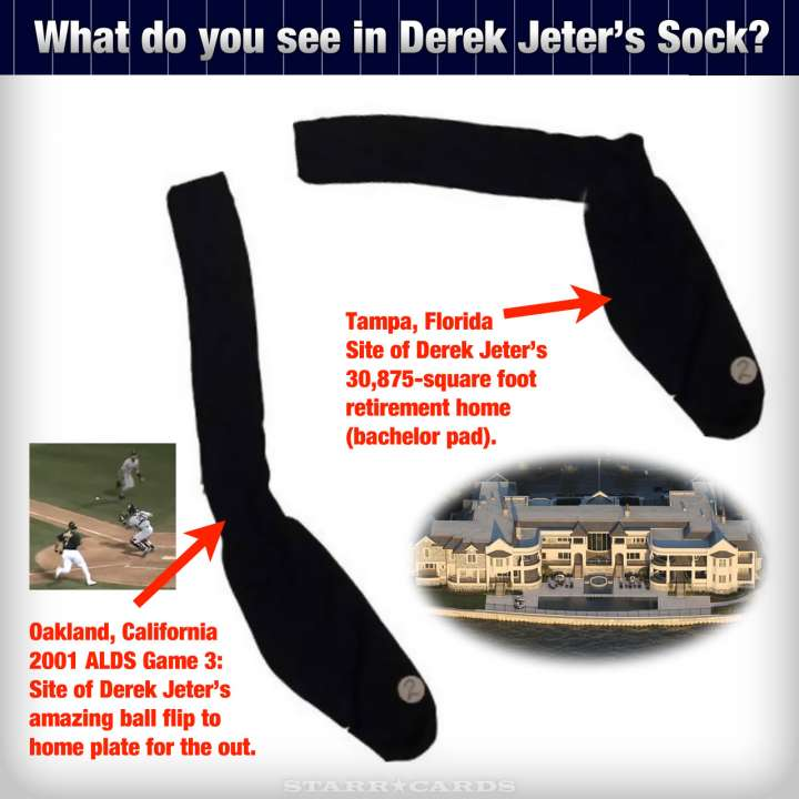 Rorschach test: What do you see in Derek Jeter's sock?