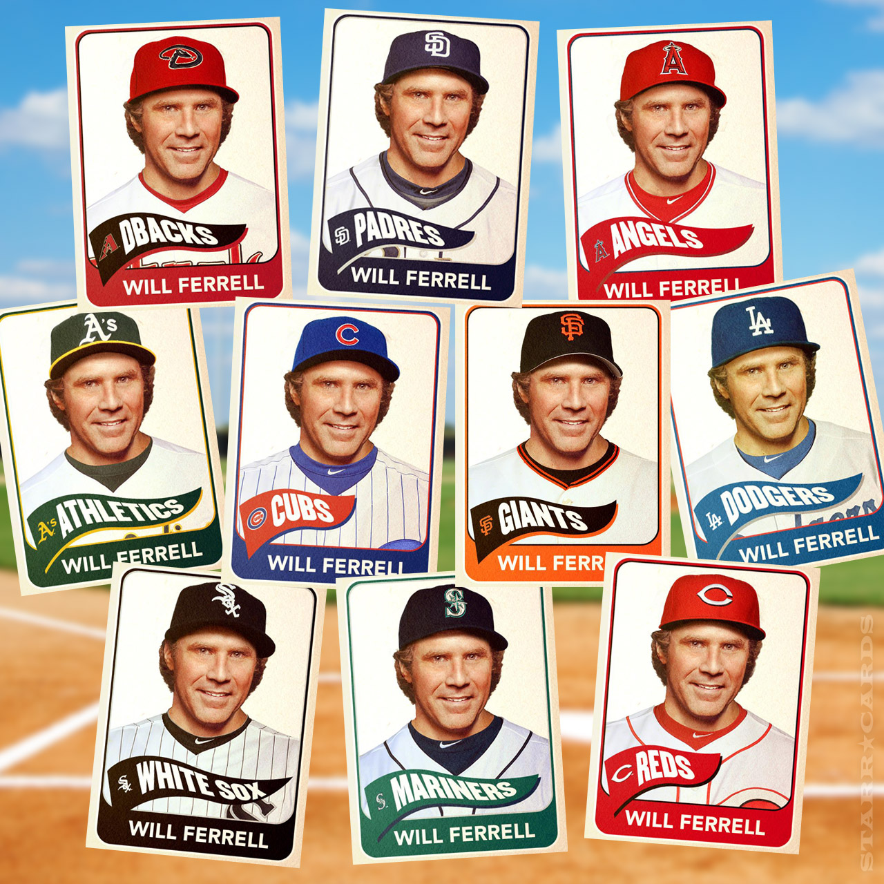Will Ferrell Baseball Cards