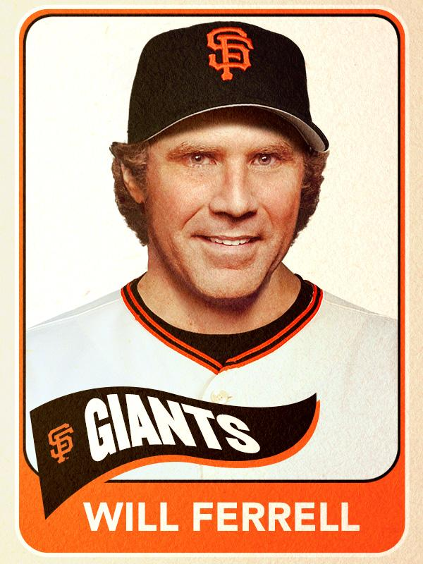 Will Ferrell, Catcher, San Francisco Giants - Baseball Card