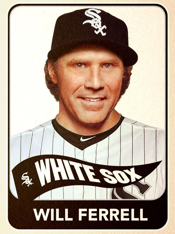 Will Ferrell, Designated Hitter, Chicago White Sox - Baseball Card