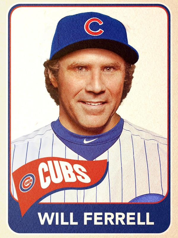 Will Ferrell, First Base, Chicago Cubs - Baseball Card