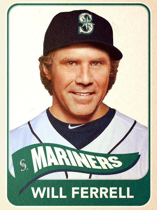 Will Ferrell, Second Base, Seattle Mariners - Baseball Card