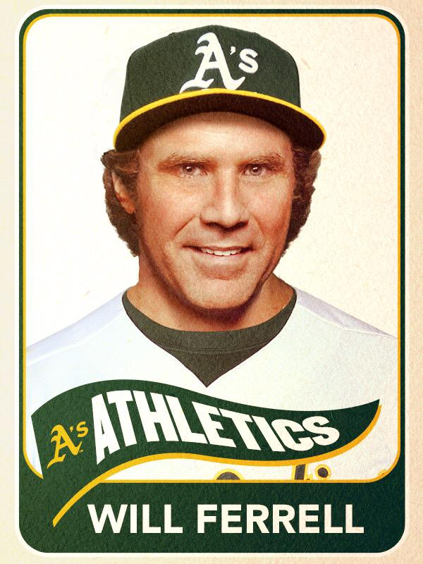 Will Ferrell, Shortstop, Oakland Athletics - Baseball Card