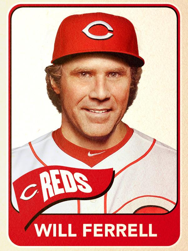 Will Ferrell, Third Base, Cincinnati Reds - Baseball Card