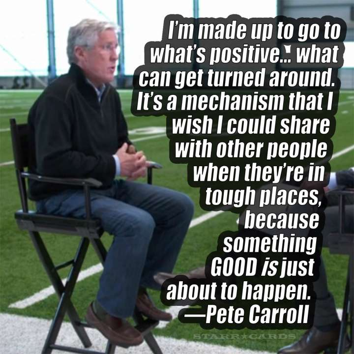 Wisdom of gridiron guru Pete Carroll
