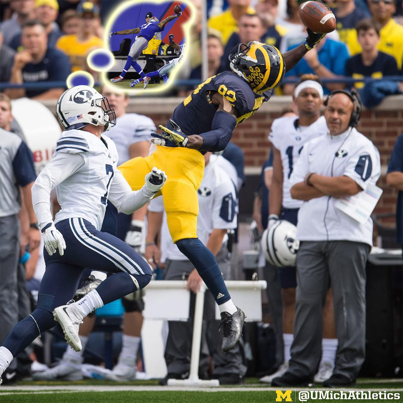 Wolverines WR Amara Darboh does his best Odell Beckham Jr. impersonation