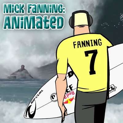 World champion surfer Mick Fanning gets animated