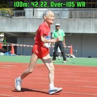 World's oldest sprinter Miyazaki Hidekichi sets 100m record for 105-year-olds