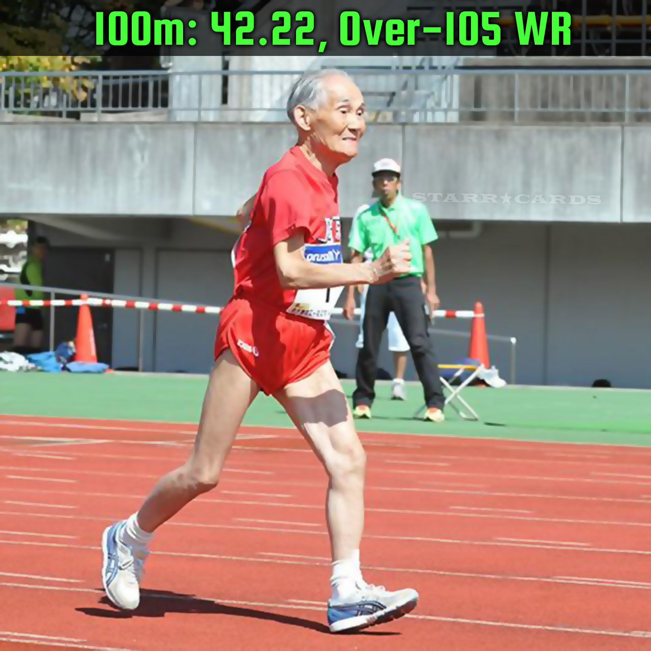 World's oldest sprinter Miyazaki Hidekichi sets 100m record for 105-year-olds