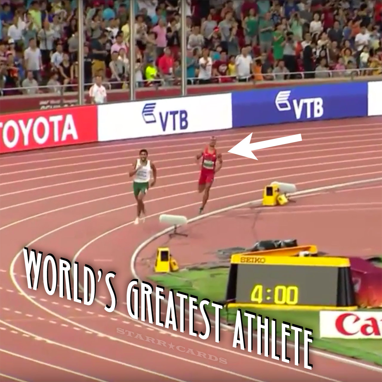 World's Greatest Athlete Ashton Eaton sets new decathlon world record