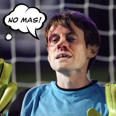 Yale goalie Scott Sterling has a stout snout