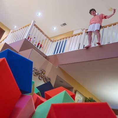 YouTuber Brian Awadis (aka FaZe Rug) makes living-room foam pit