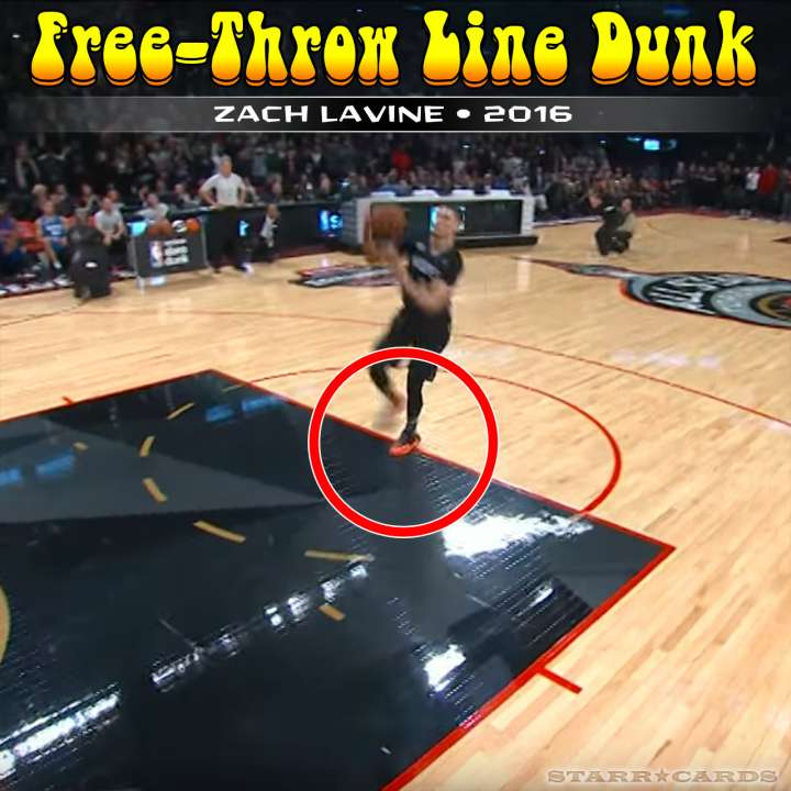 Zach LaVine : 2016 free-throw line dunk