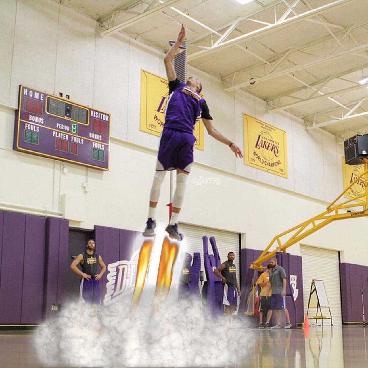 Zach LaVine sets Lakers NBA pre-draft jump record