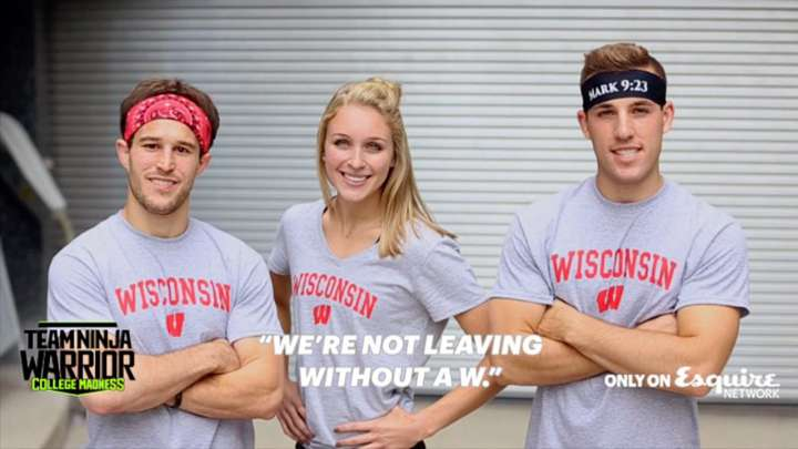 Zack Kemmerer, Taylor Amann, and Andrew Philibeck represent Wisconsin on 'Team Ninja Warrior'